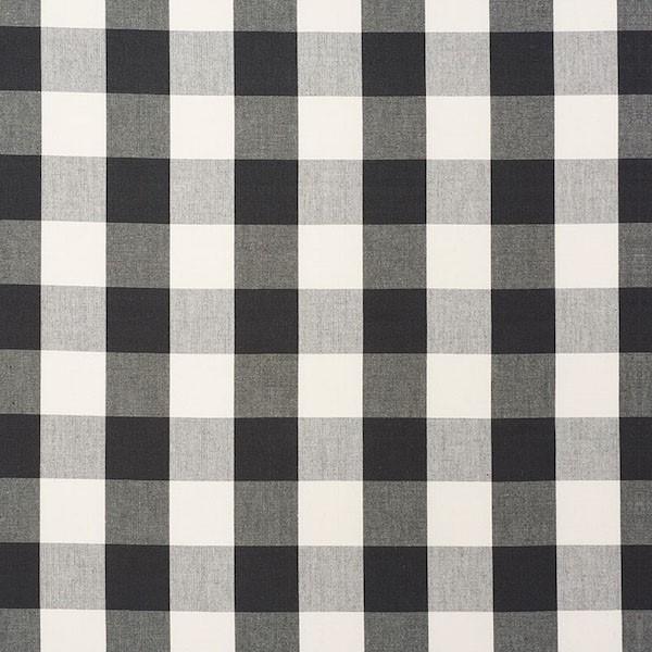 Camden Cotton Check - Black - Schumacher Fabric