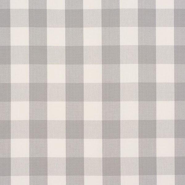 Camden Cotton Check - Grey - Schumacher Fabric