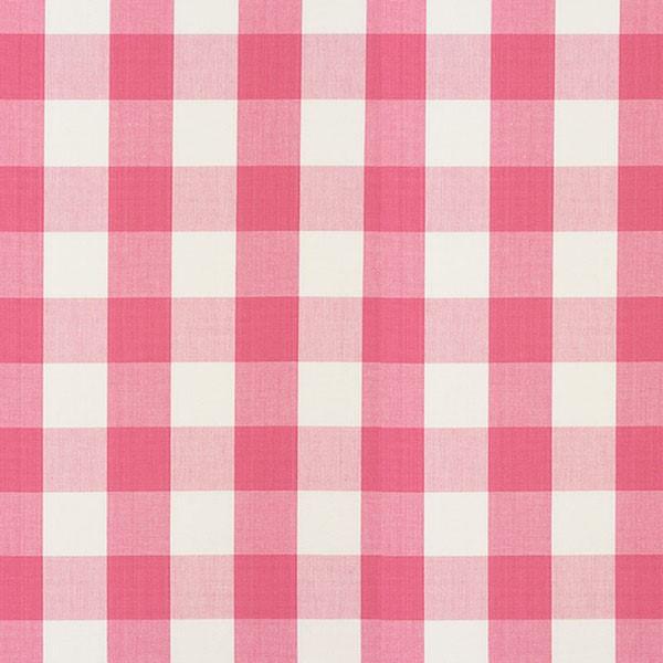 Camden Cotton Check - Magenta - Schumacher Fabric