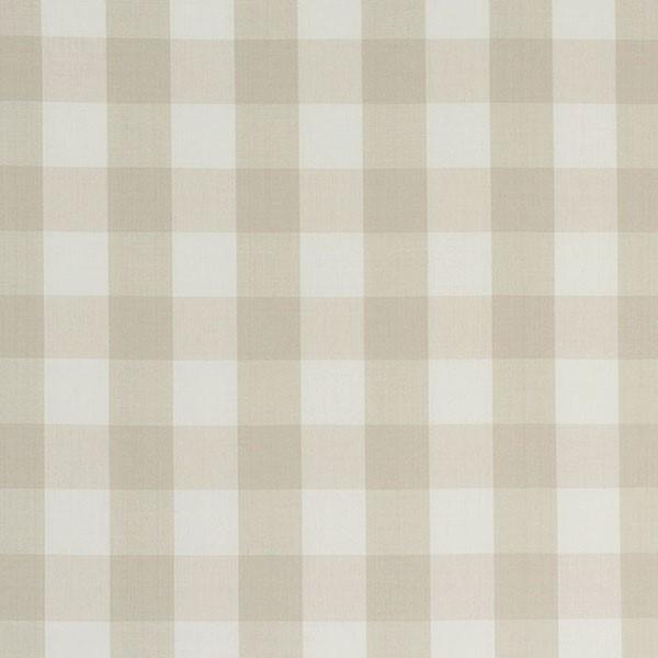 Camden Cotton Check - Natural - Schumacher Fabric