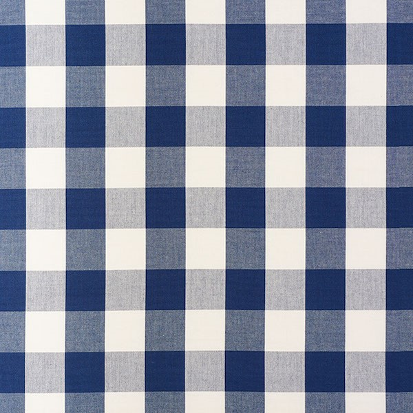 Camden Cotton Check - Navy - Schumacher Fabric