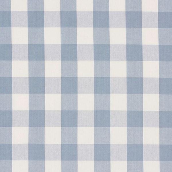 Camden Cotton Check - Sky - Schumacher Fabric