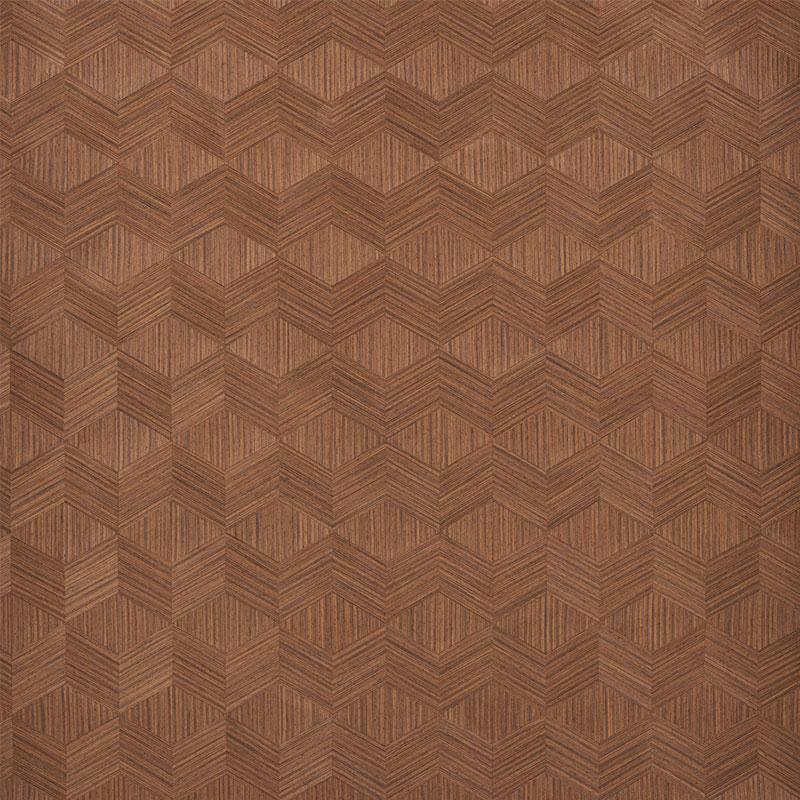 schumacher wallpaper chevron inlay walnut