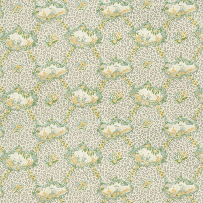 Chinese Leopard Toile - mist
