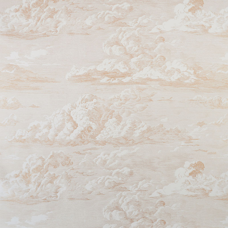 cloud toile gold schumacher wallpaper