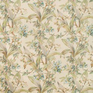 Daffodil and Vine - aqua