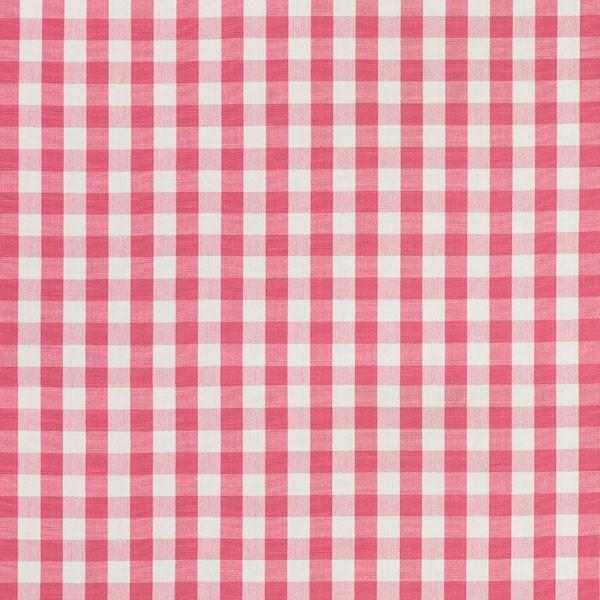 Elton Cotton Check - Magenta - Schumacher fabric