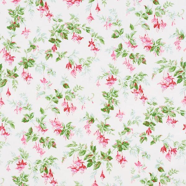 Garden gate chintz - magenta - Schumacher fabric
