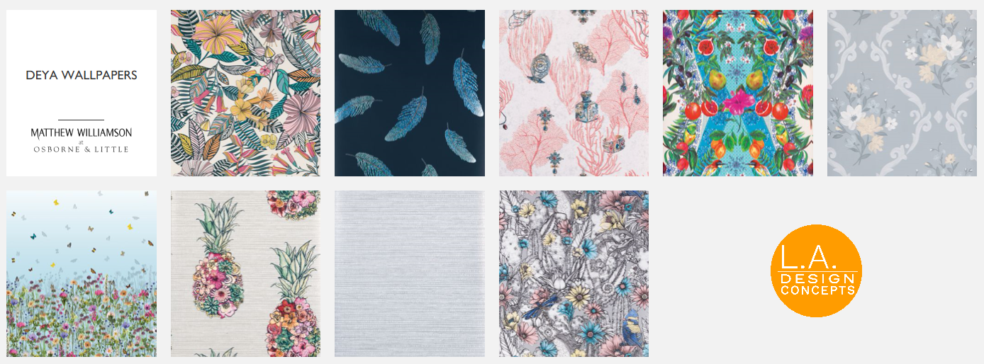osborne and little wallpaper deya collection