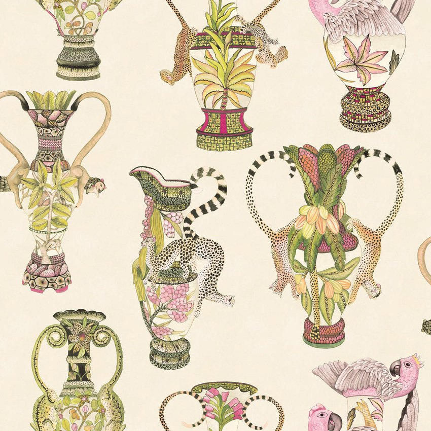 Khulu Vases - cream multi
