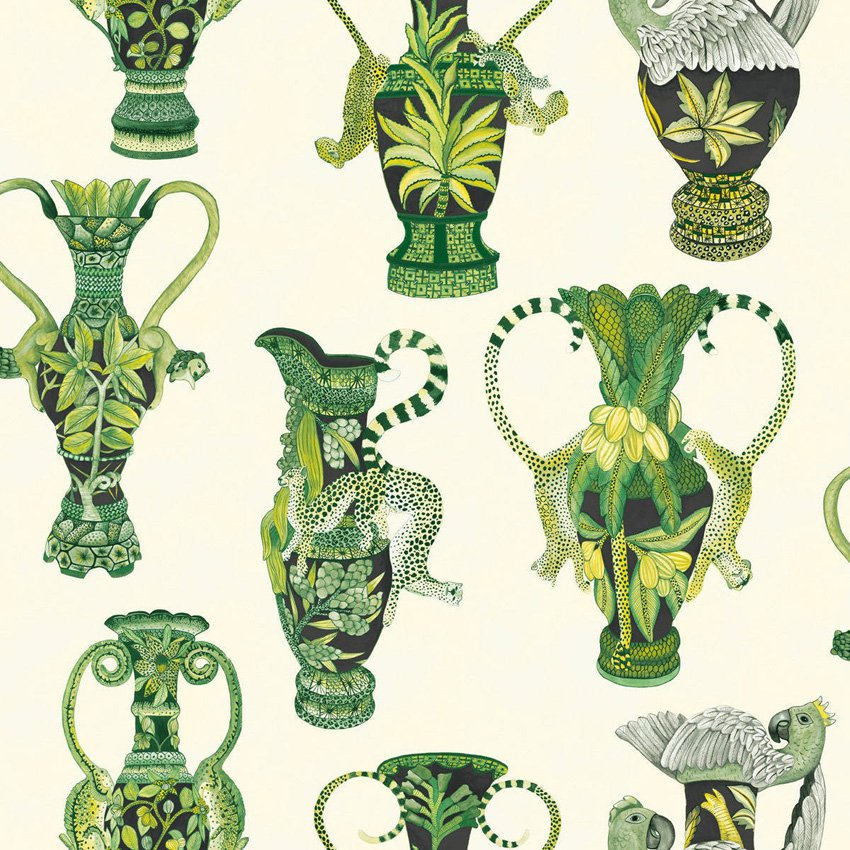 Khulu Vases - green and white