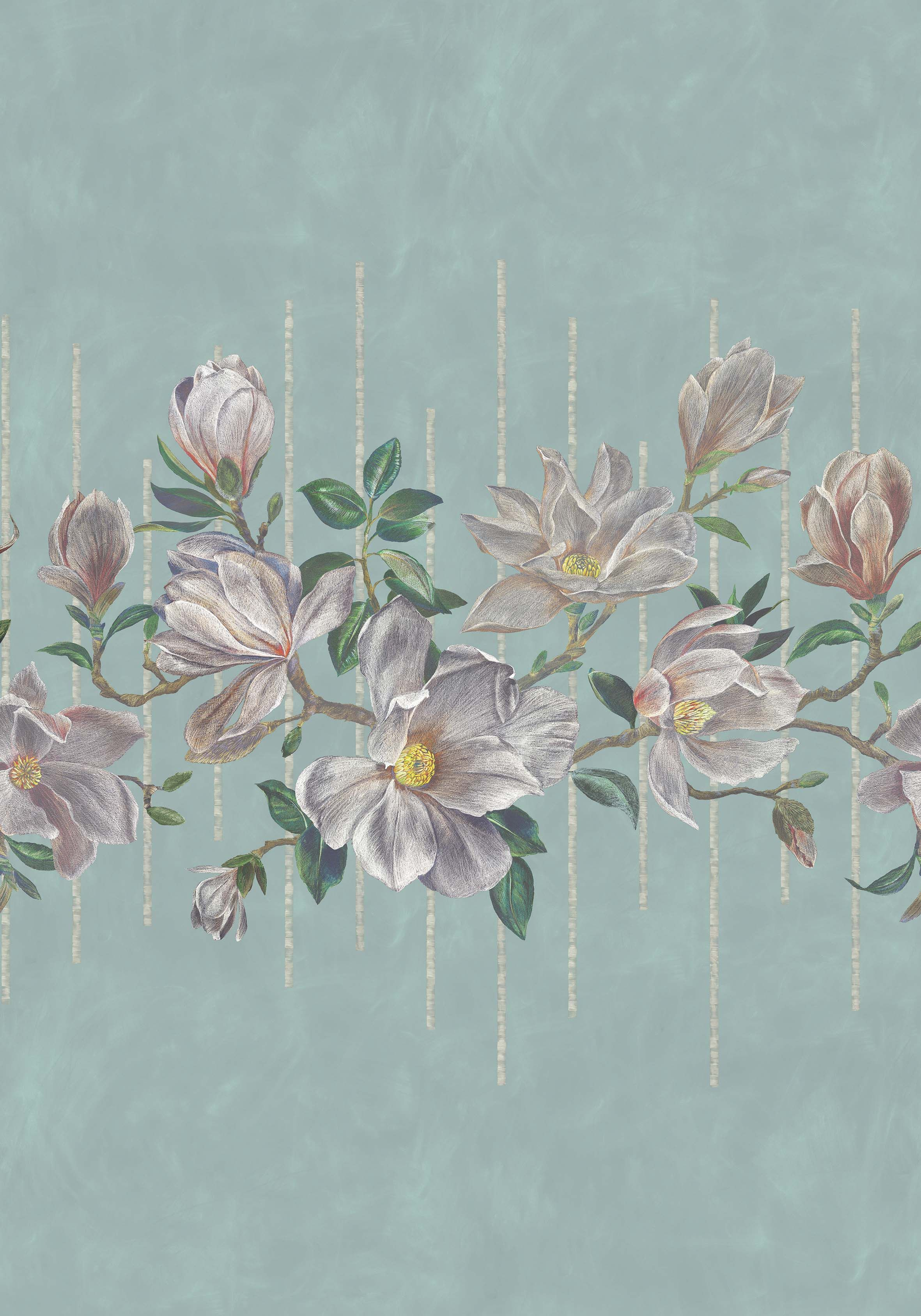 Magnolia Frieze - 2