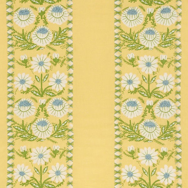 Marguerite Embroidery - Buttercup - Schumacher Fabric