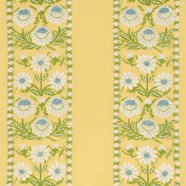 Marguerite embroidery - buttercup - Schumacher fabric