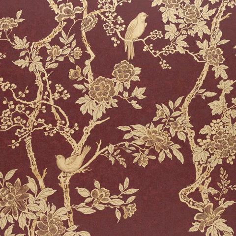 Marlowe Floral - Garnet