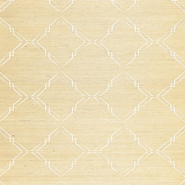 Monroe Embroidered Grasscloth - papyrus