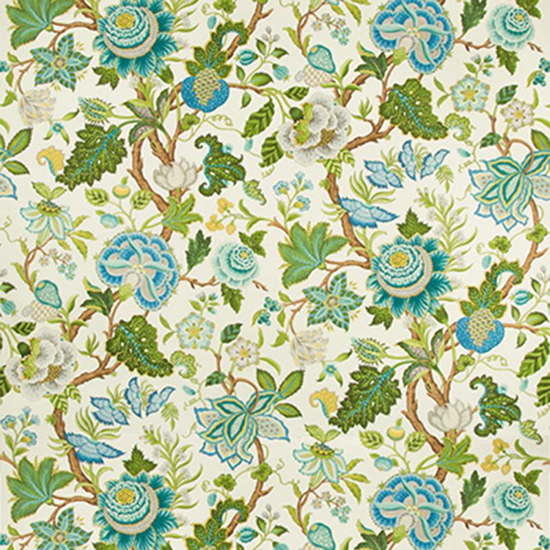 Nizam Cotton Print - spring aqua