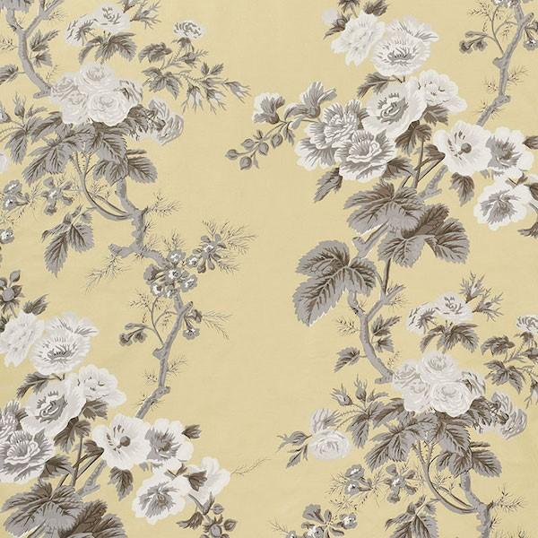 Pyne Hollyhock - Buttercup - Schumacher fabric