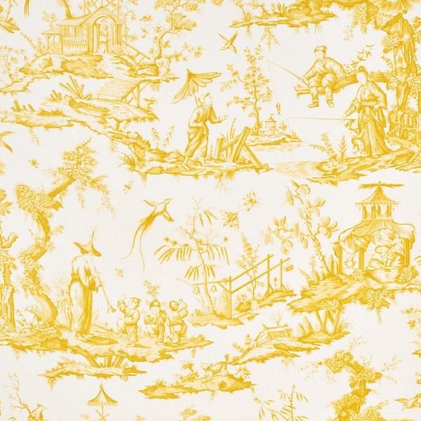 Shengyou Toile - Yellow - Schumacher fabric