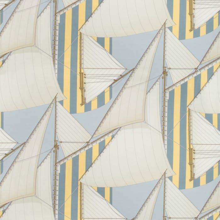St Tropez Print - blue yellow
