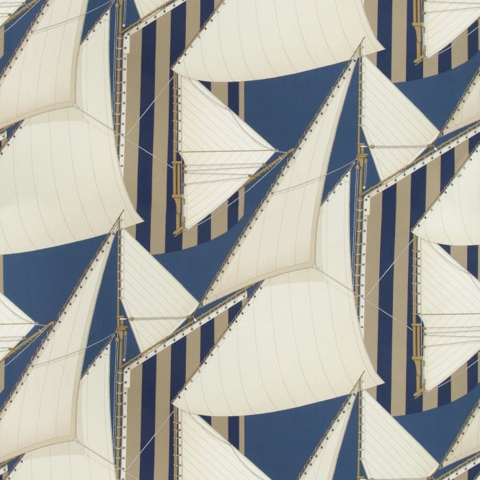 St Tropez Print - navy marine