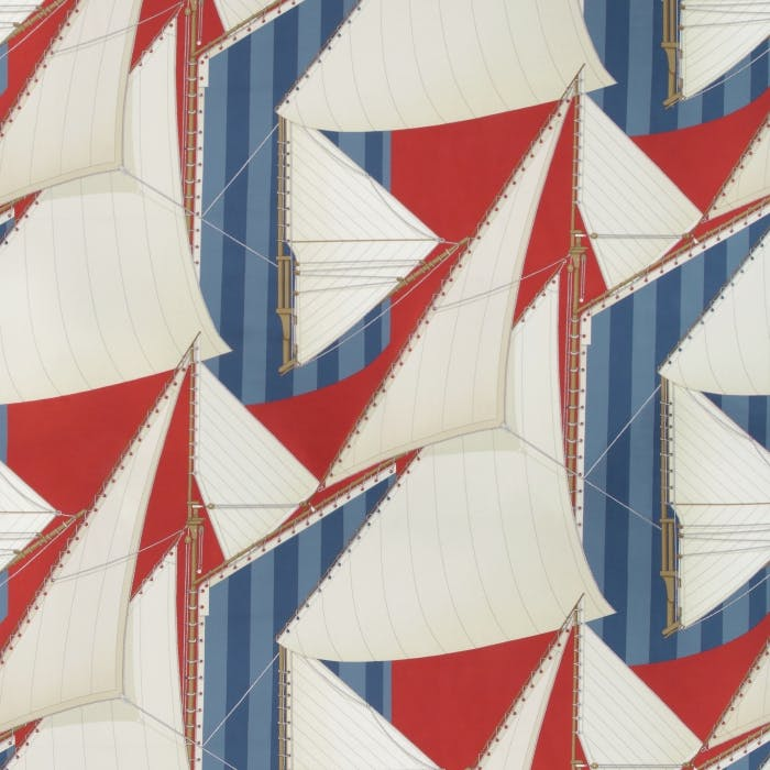 St Tropez Print - red blue