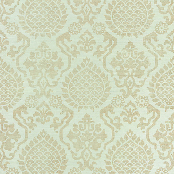 Surat Sisal - burnished gold on mineral scalamandre wallpaper
