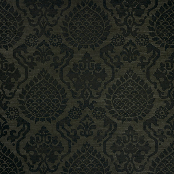 Surat Sisal - jet scalamandre wallpaper