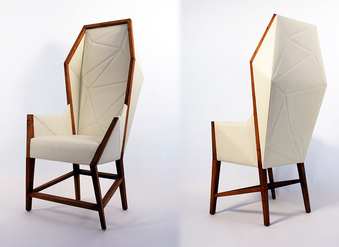 Shop Atelier Purcell - Bias Hooded Dining Chair