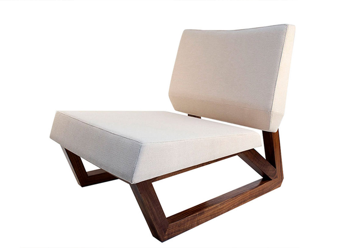 Shop Atelier Purcell Luxury Furniture Bias Sled Chair