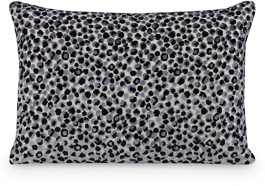 gray blue white speckled cushion pillow