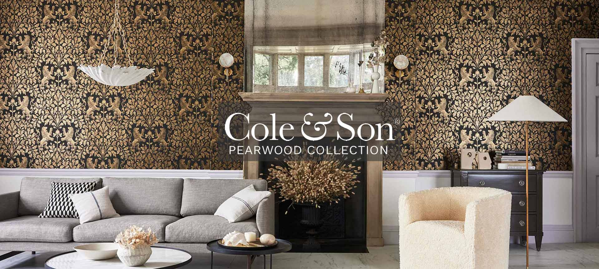 Cole and Son Wallpaper Pearwood Collection