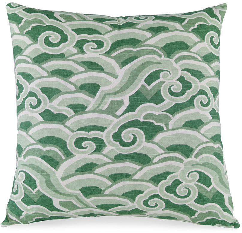 clouds wave decorative cushion pillow green jade