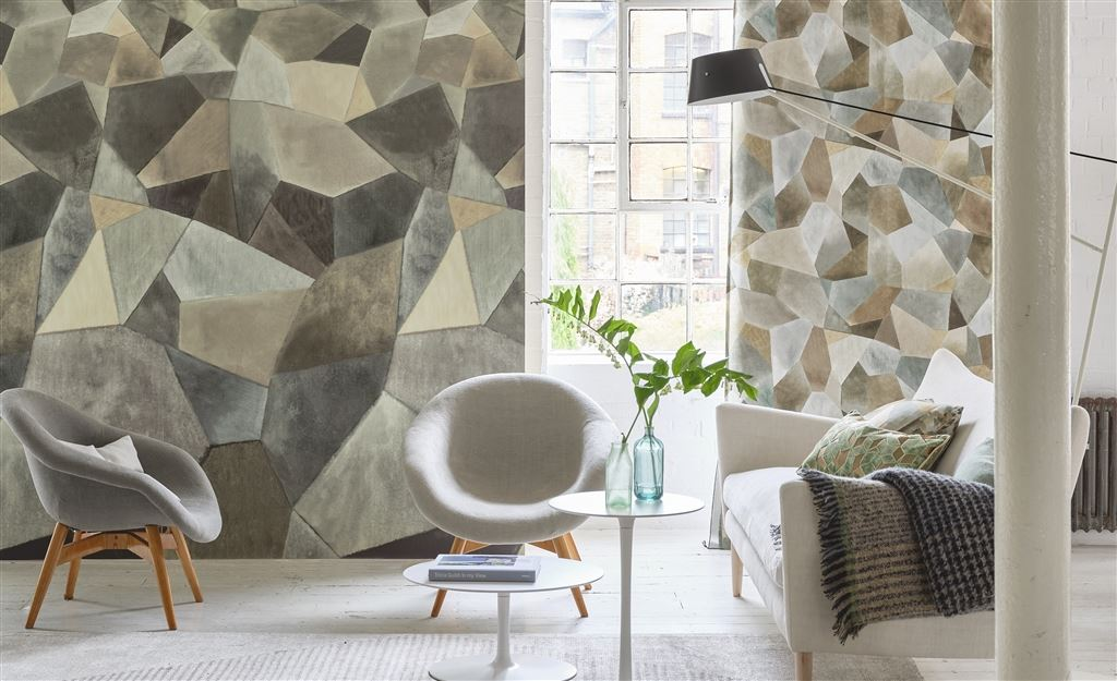 Geo Moderne in 'Pewter' from Designers Guild