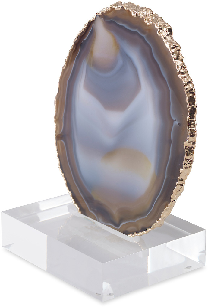 geode slice plated with gold