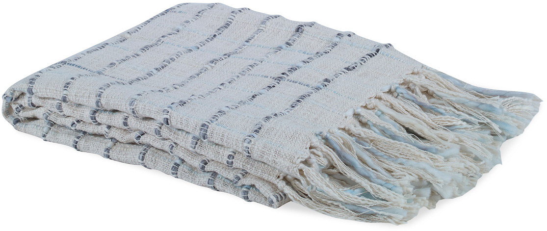 green blue faded check throw blanket