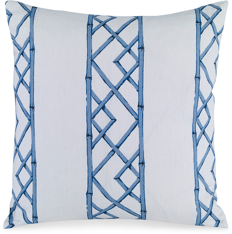 kravet fabrics upholstered pillow blue latticely