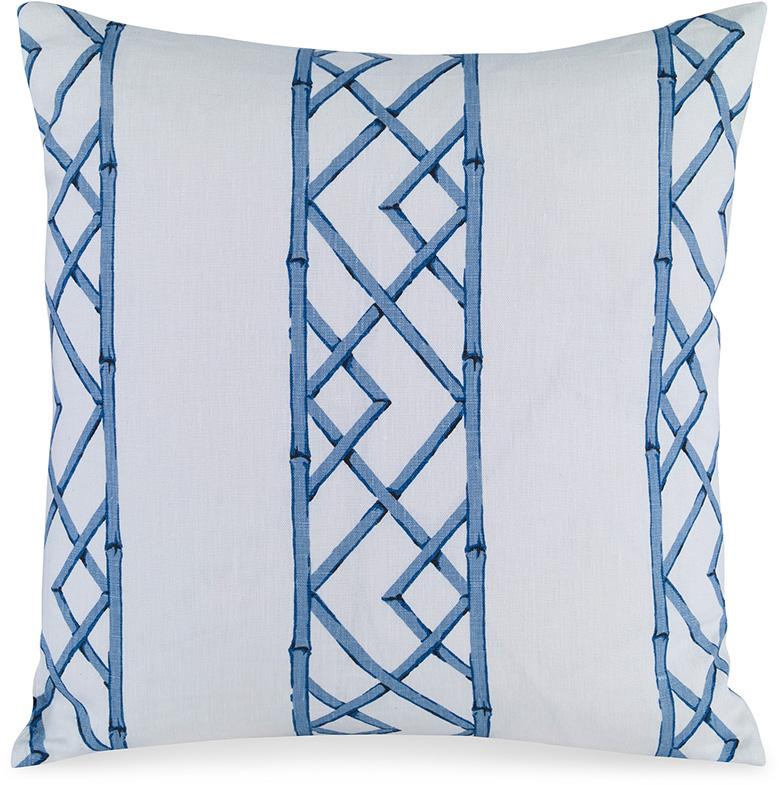 kravet fabrics upholstered pillow blue latticely
