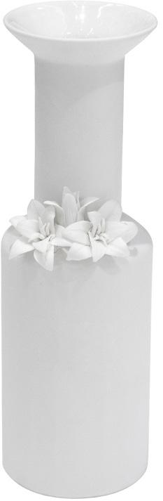 white porcelain skinny vase