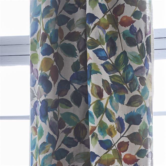 maruko teal designers guild fabric