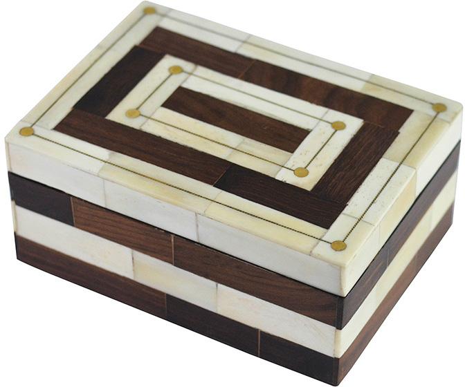 brown and natural colored bone box