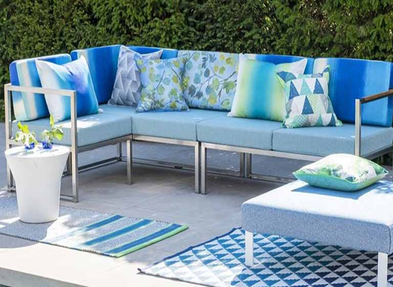 Sunbrella Alternative 1 Yard Living Paradise Fabric by the Yard Vintage Chalk Outdoor Upholstery Fabric