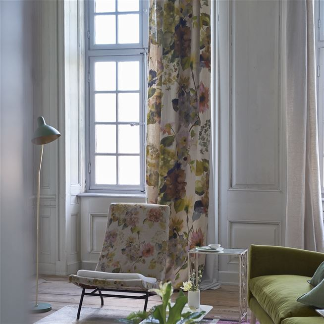 palace flower linen designers guild fabric