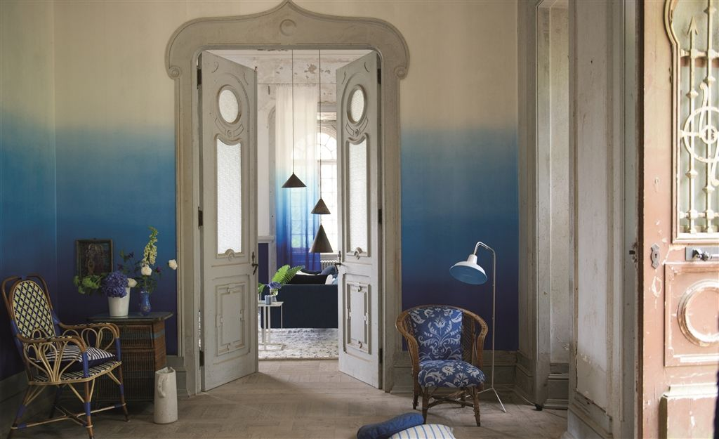 Saraille in 'Cobalt' from Designers Guild