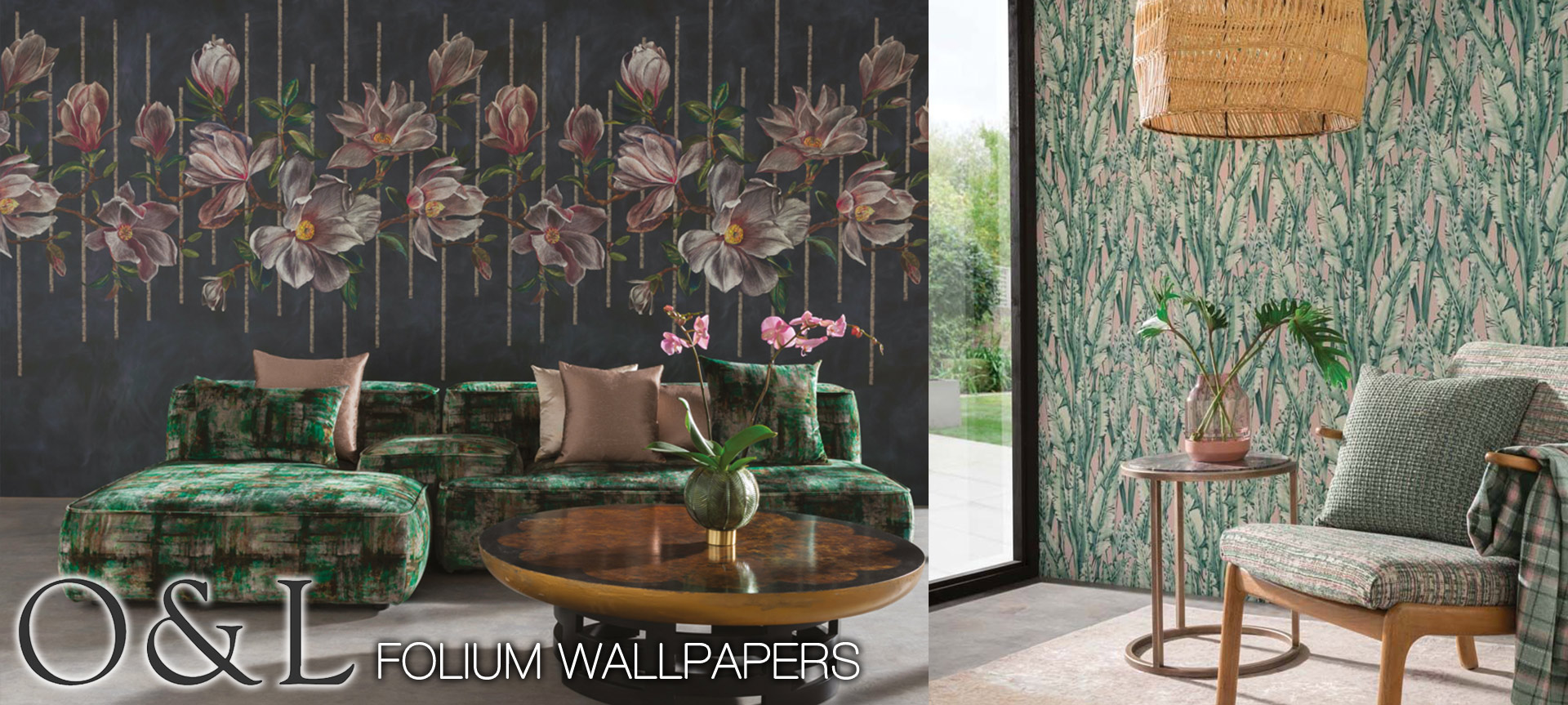 Shop Osborne and Little Folium Wallpapers